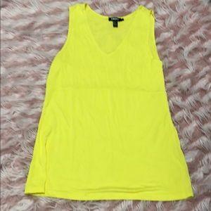 DKNY Tank Top Size L Yellow